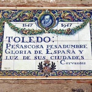Placas relacionadas con Miguel de Cervantes