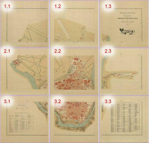 Plano Toledo 1909 Plano llave