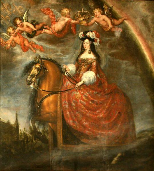 Retrato ecuestre de María Luisa de Orleans por Francisco Rizi - 1679
