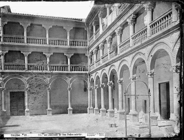 01-LAURENT - 0012 - Patio del convento de San Pedro mártir