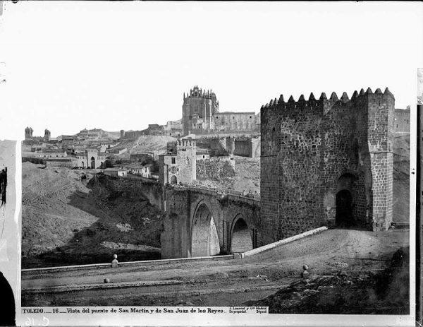 01-LAURENT - 0016 - Vista del puente de San Martín y de San Juan de los Reyes