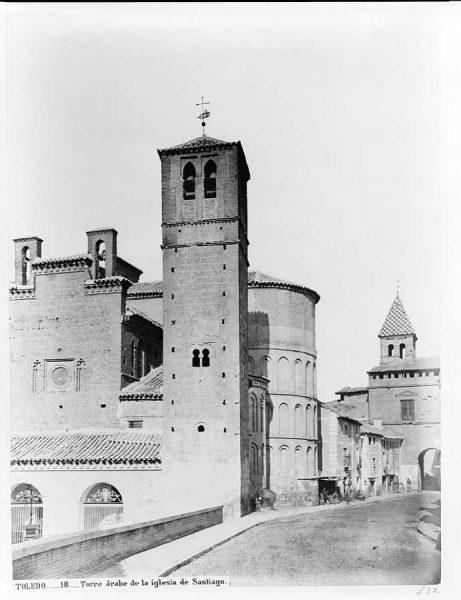 01-LAURENT - 0018 - Torre árabe de la iglesia de Santiago_1