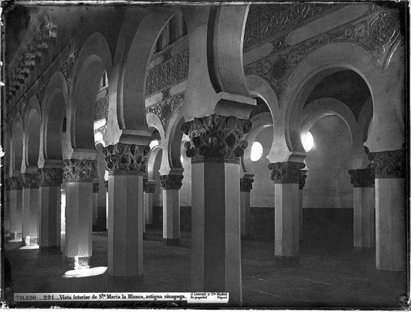 01-LAURENT - 0291 - Vista interior de Santa María la Blanca, antigua sinagoga_1