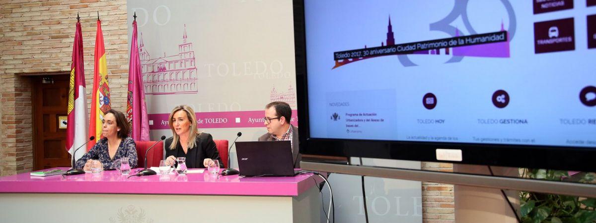 La alcaldesa presenta www.toledo.es, la nueva web…