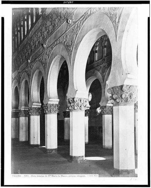 02-LAURENT - 0291 - Vista interior de Santa María la Blanca, antigua sinagoga_2