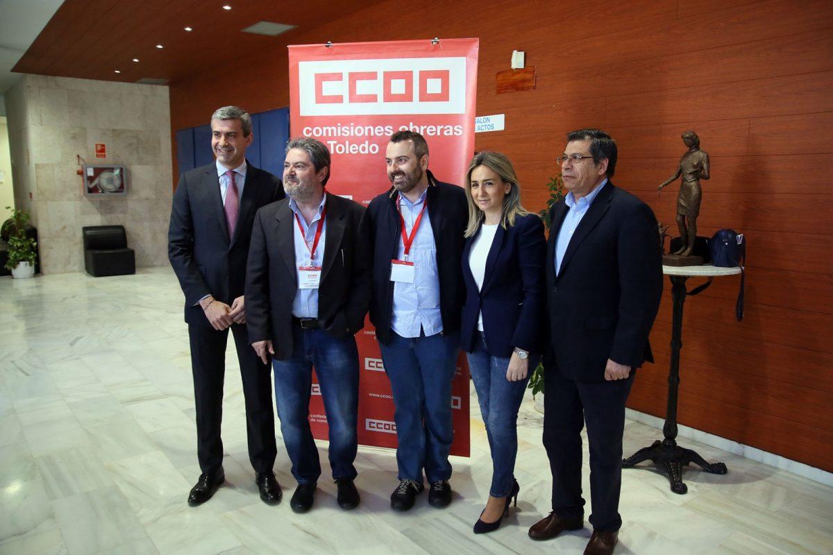 La alcaldesa mantiene que la acción sindical es esencial y elogia la colaboración y vehemencia de Villaraco en el Congreso de CCOO