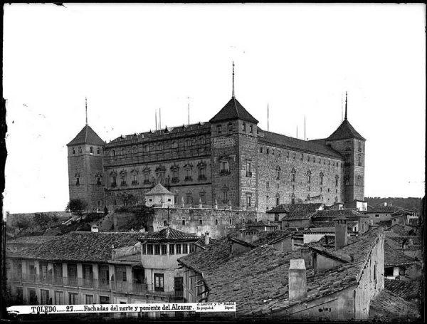 08-LAURENT - 0027 - Fachadas del norte y poniente del Alcázar_1