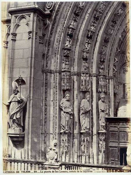 13-LAURENT - 0020 - Catedral de Toledo_La puerta de los Leones, costado de la izquierda