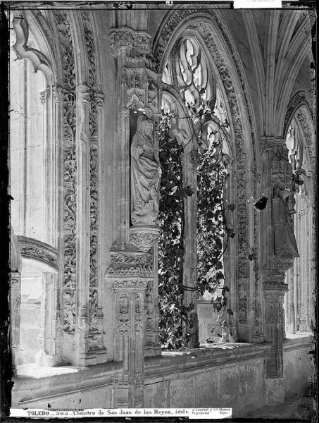 16-LAURENT - 0583 - Claustro de San Juan de los Reyes, detalle_1
