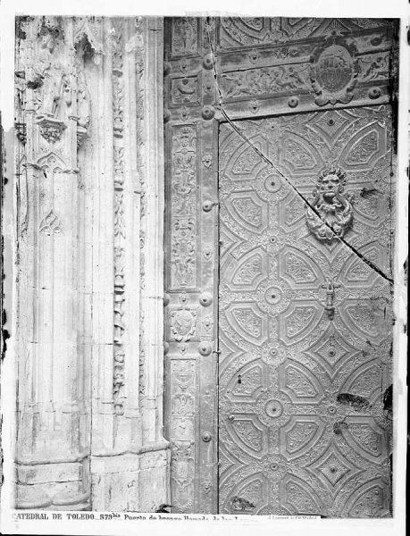 17-LAURENT - 0579 Bis - Catedral de Toledo_Puerta de bronce llamada de los Leones