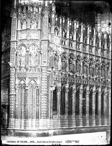 20-LAURENT - 2252 - Catedral de Toledo_Parte lateral del altar mayor