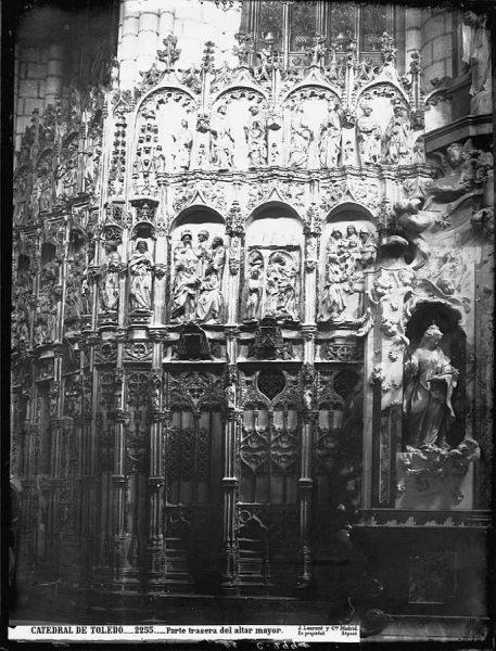 21-LAURENT - 2255 - Catedral de Toledo_Parte trasera del altar mayor