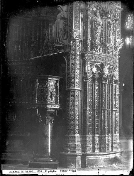 22-LAURENT - 2254 - Catedral de Toledo_El púlpito