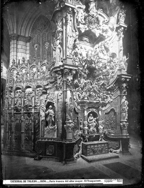 23-LAURENT - 2256 - Catedral de Toledo_Parte trasera del altar mayor_El Trasparente