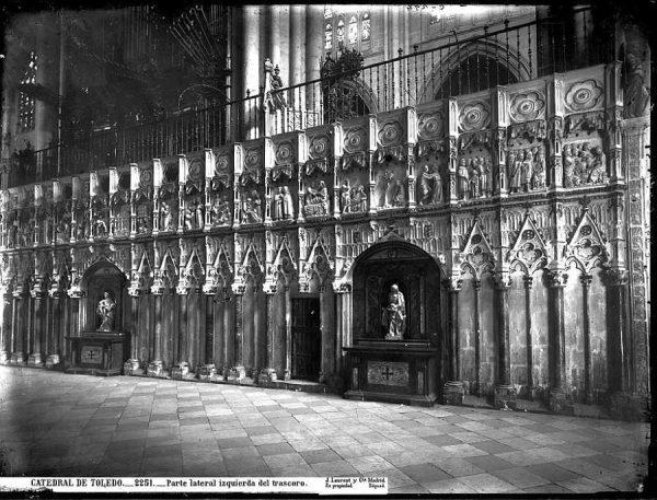25-LAURENT - 2251 - Catedral de Toledo_Parte lateral izquierda del Trascoro