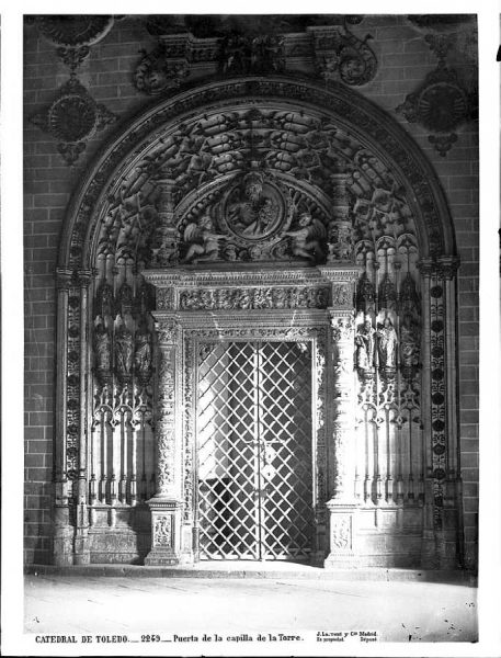 27-LAURENT - 2249 - Catedral de Toledo_Puerta de la capilla de la Torre