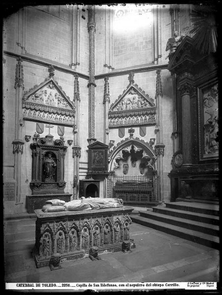28-LAURENT - 2258 - Catedral de Toledo_Capilla de San Ildefonso, con el sepulcro del obispo Carrillo