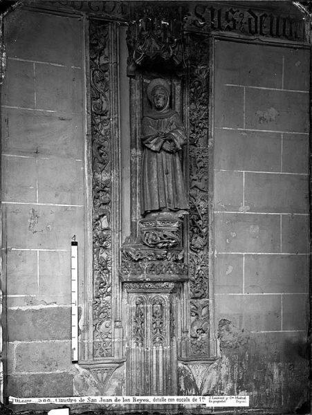29-LAURENT - 0588 - Claustro de San Juan de los Reyes, detalle