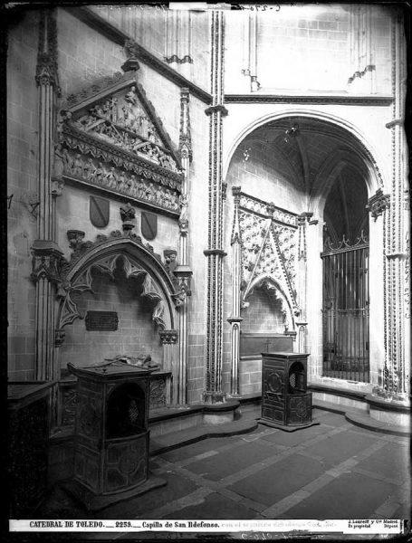 29-LAURENT - 2259 - Catedral de Toledo_Capilla de San Ildefonso, con el sepulcro del obispo Carrillo