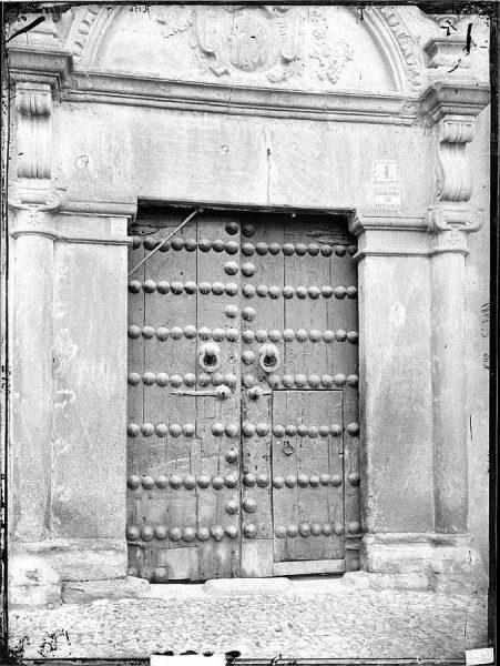 36-LAURENT - 1781 - Puerta de casa particular [Plaza de San Vicente, 4]