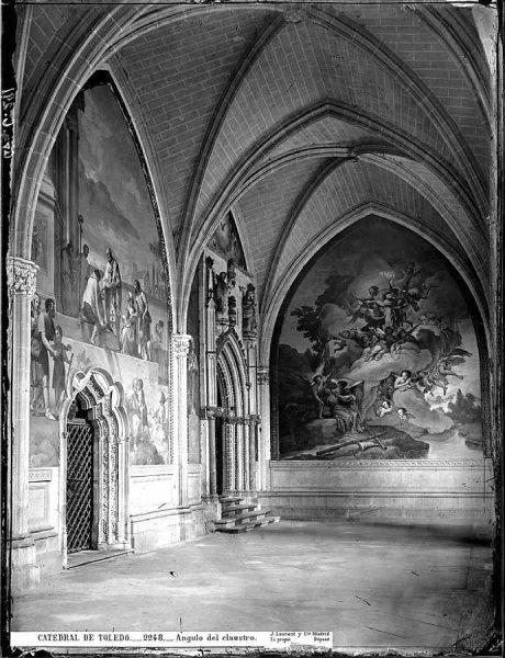 41-LAURENT - 2248 - Catedral de Toledo_Ángulo del claustro