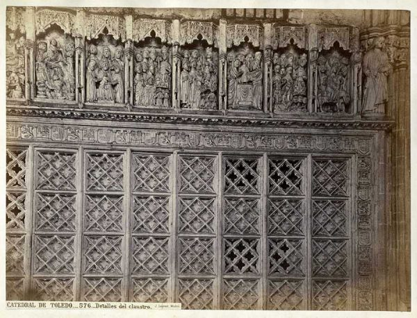 47-LAURENT - 0576 - Catedral de Toledo_Detalles del claustro