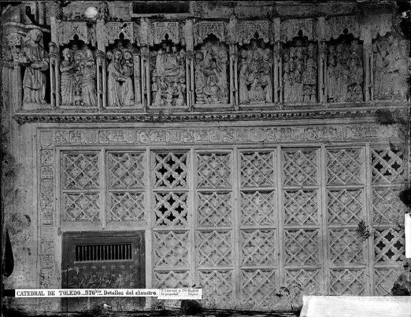 48-LAURENT - 0576 Bis - Catedral de Toledo_Detalles del claustro