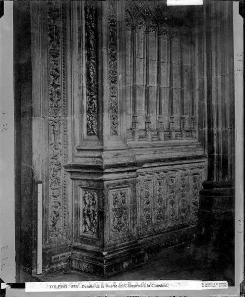 50-LAURENT - 0578 - Detalle de la Puerta del Claustro de la Catedral