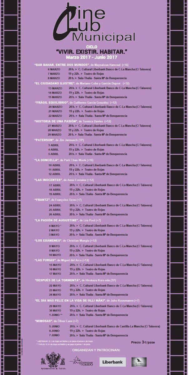 Modificación de la sesión del Cine Club municipal del lunes 17 de abril