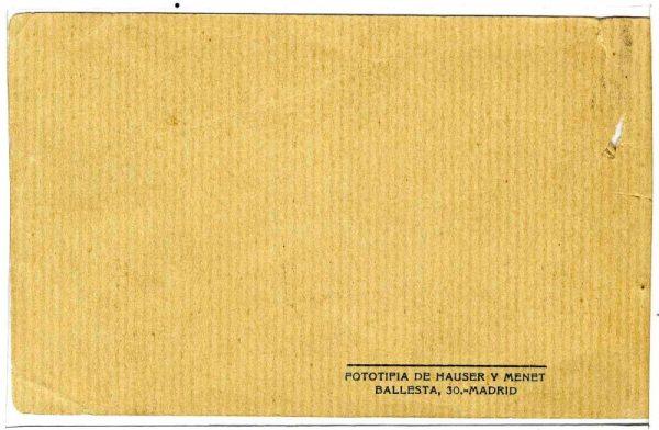 Contracubierta Colección de Postales 1916