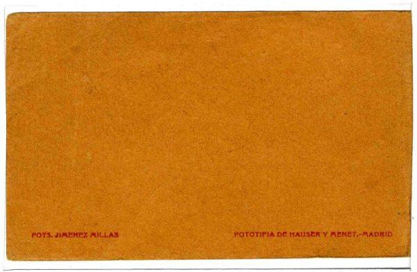 Contracubierta Colección de Postales 1920-1921