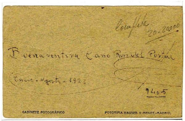 Contracubierta Colección de Postales 1923