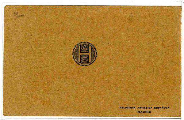 Contracubierta Colección de Postales 1925-1926