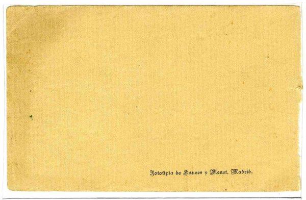 Contracubierta Colección de Postales Curso 1913-1914