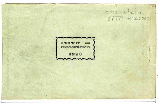 Contracubierta Colección de Postales Curso 1920