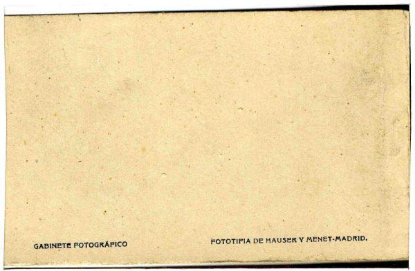Contracubierta Colección de Postales Curso 1923-1924,I