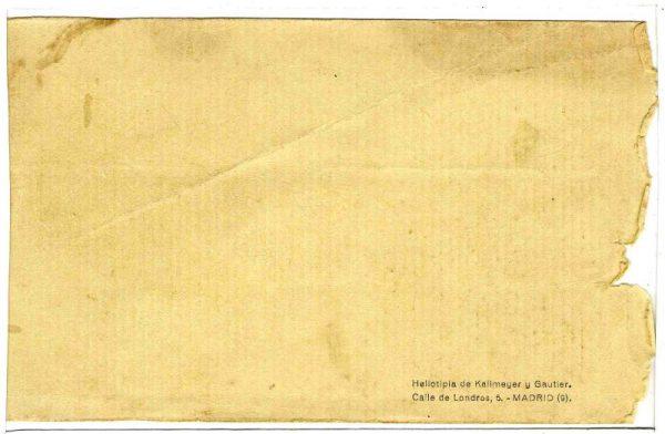 Contracubierta Colección de Postales Curso 1926-1927,I