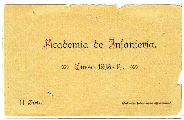 Cubierta Colección de Postales Curso 1913-1914