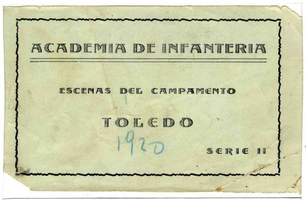 Cubierta Colección de Postales Curso 1920