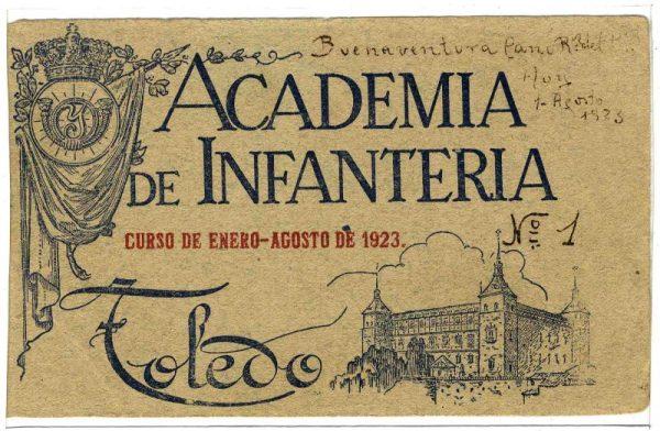 Cubierta Colección de Postales Curso 1923