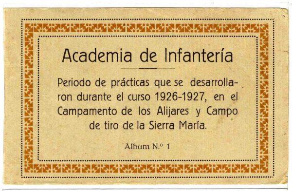 Cubierta Colección de Postales Curso 1926-1927,I