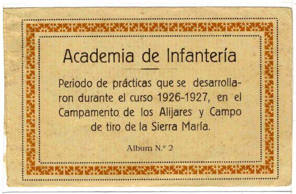 Cubierta Colección de Postales Curso 1926-1927,II