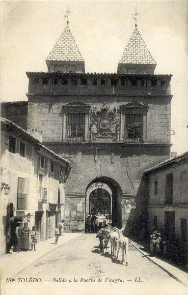 LEVY & SES FILS - 019 - Salida a la puerta de Visagra [sic, Bisagra]_ALBA-POSTAL- 2444