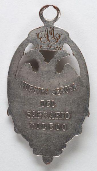 Luis Alba - Medalla de la Virgen del Sagrario - 212 reverso