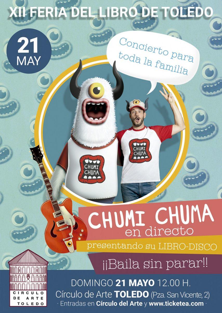 https://www.toledo.es/wp-content/uploads/2017/04/chumichuma-toledo-poster-p-854x1200.jpg. XII Feria del Libro. Concierto Infantil