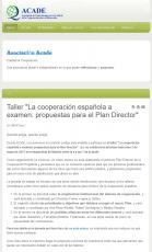 Taller 'La Cooperación Española a examen: Propuestas para el Plan Director'