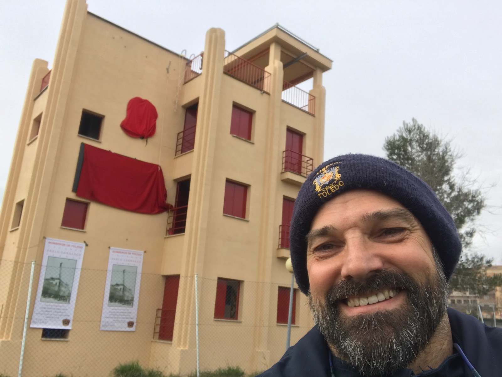 Montaje Carteles Homenaje a Pablo Carrasco. 30 años. Bomberos de Toledo