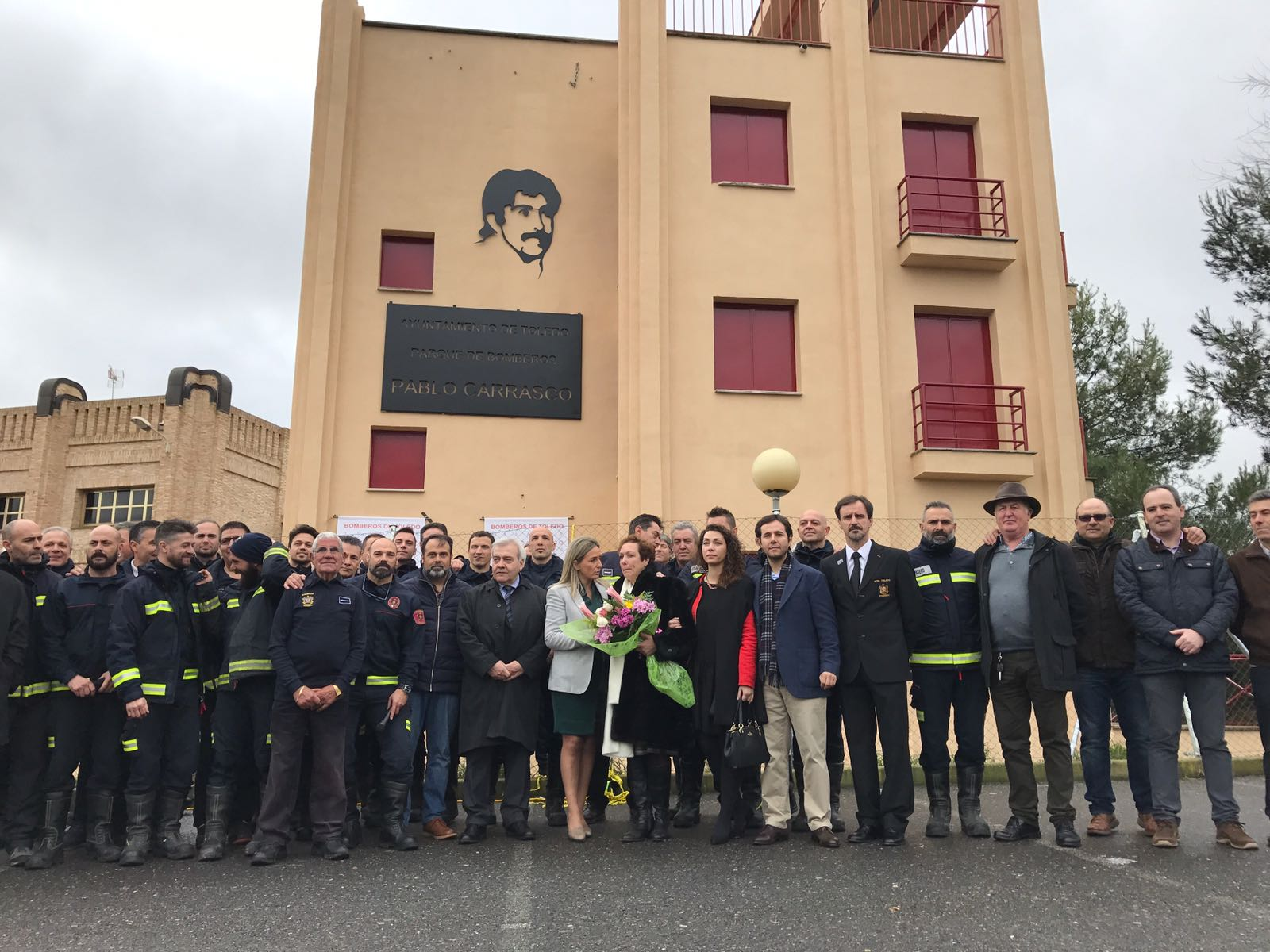 Homenaje a Pablo Carrasco. 30 años. Parque de Bomberos de Toledo
