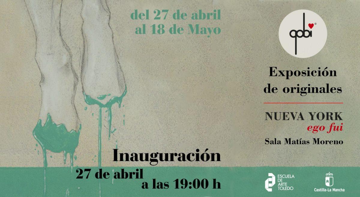 """https://www.toledo.es/wp-content/uploads/2017/04/invitacion-escuela-de-arte-1200x657.jpg. Inauguración Exposición """"Nueva York: Ego fui"""" de ilustrador Gobi"""