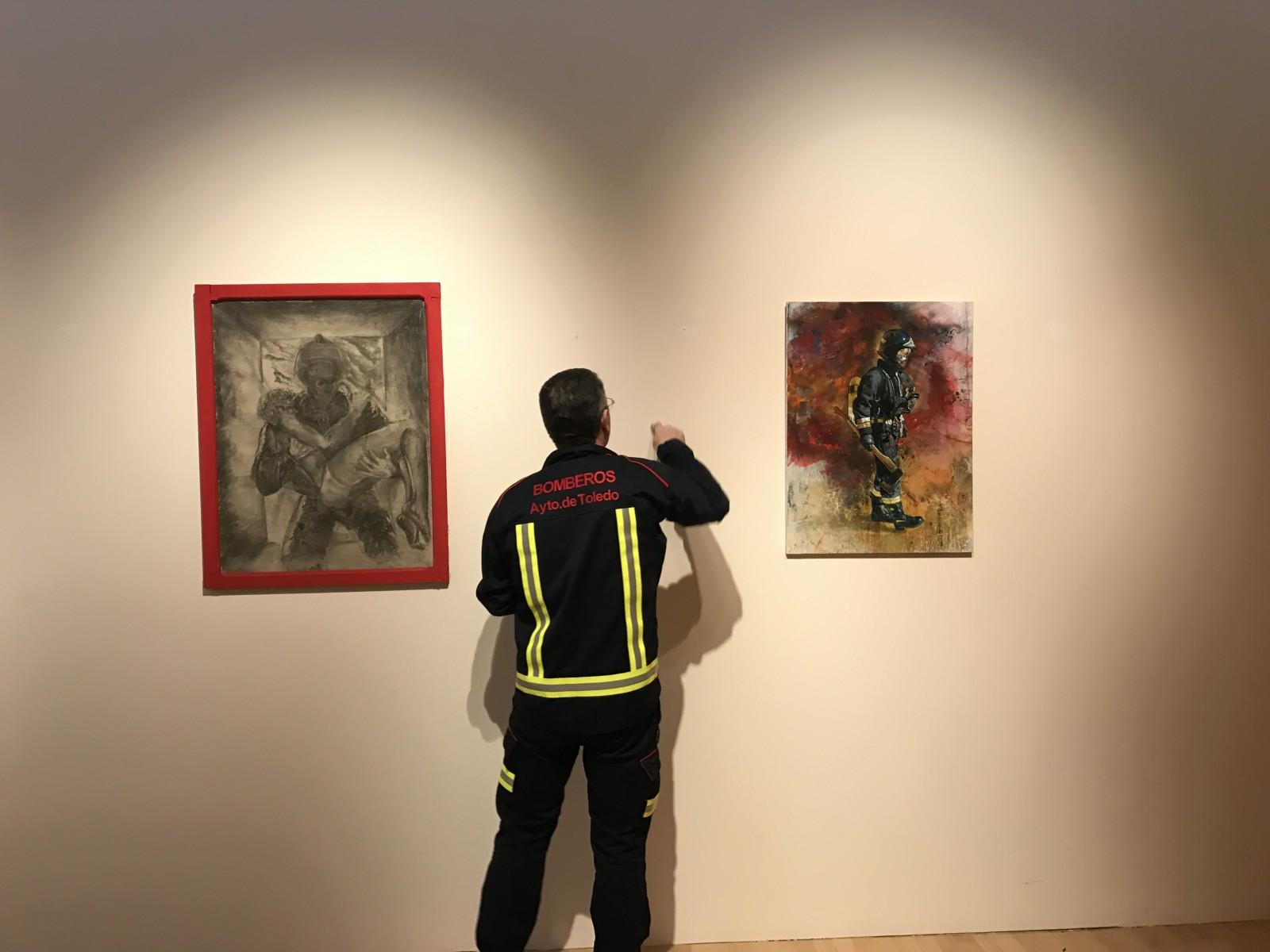 Montaje exposición 153 años Bomberos de Toledo30 años Pablo Carrasco (41)